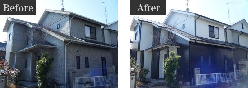 施工事例:外壁塗装費用 130万円