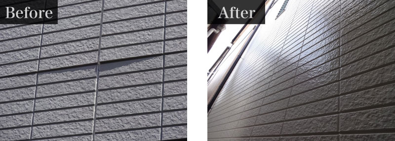 千葉県市川市施工事例:外壁塗装費用 130万円