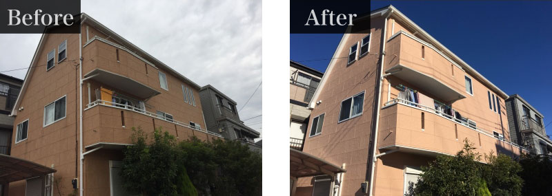 東京都杉並区施工事例:外壁塗装費用 150万円