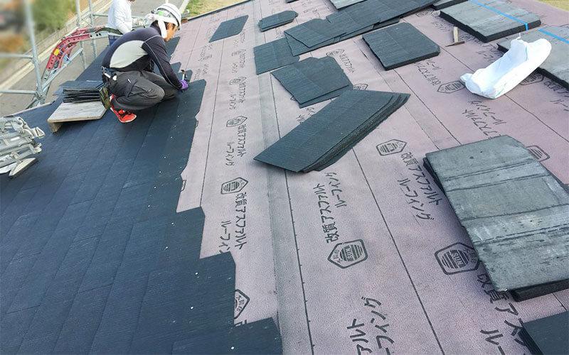 コロニアル屋根葺き替え工事