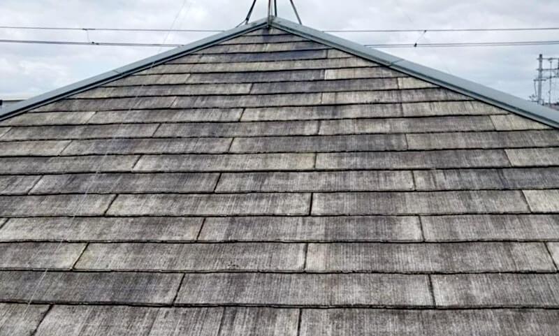 コロニアル屋根の劣化症状:色あせ