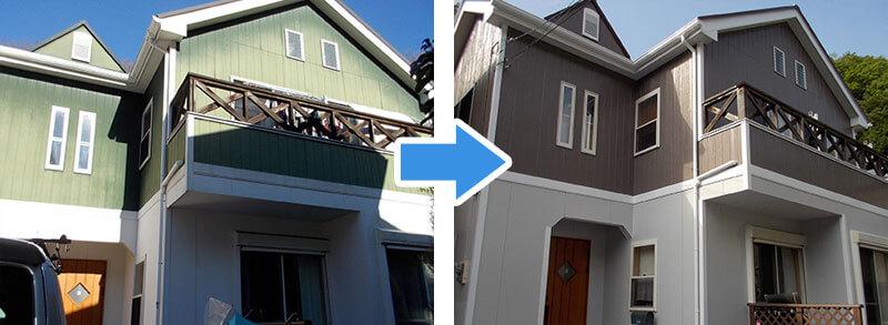 島忠ホームズの外壁塗装の施工事例