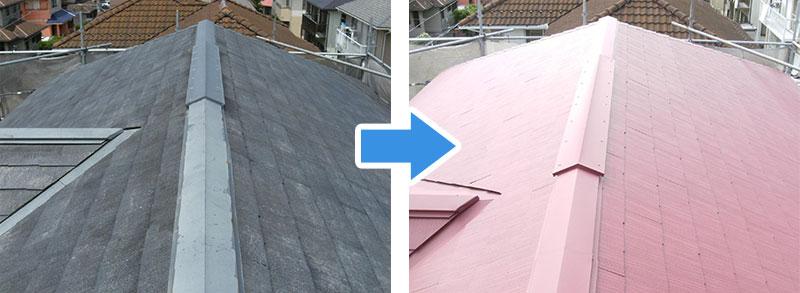島忠ホームズの屋根塗装の施工事例