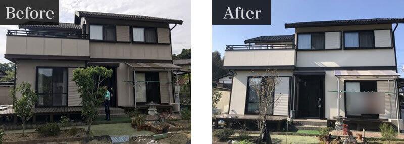 栃木県宇都宮市外壁塗装施工事例
