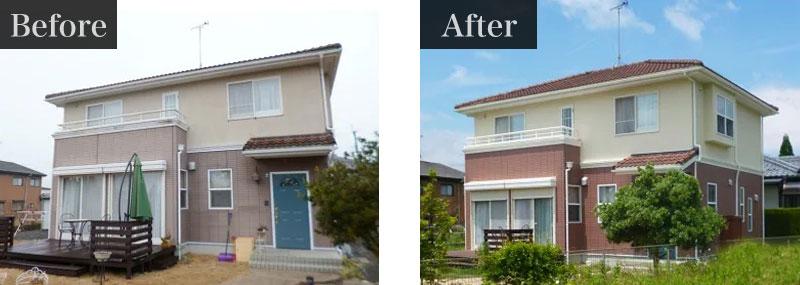 千葉県佐倉市外壁塗装施工事例