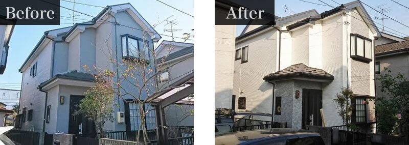 東京都大田区外壁塗装施工事例