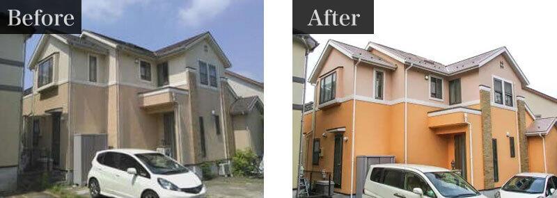 千葉県松戸市外壁塗装施工事例