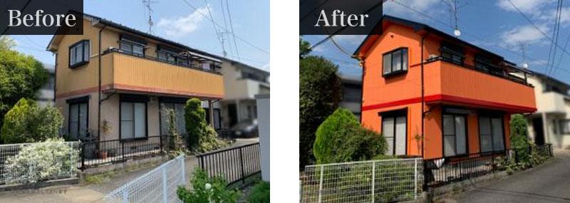 エディオンの外壁塗装の施工事例